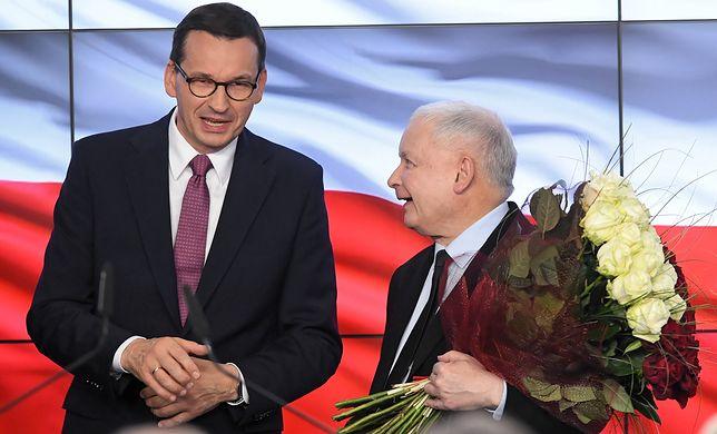 Premier Mateusz Morawiecki i Jarosław Kaczyński, prezes PiS