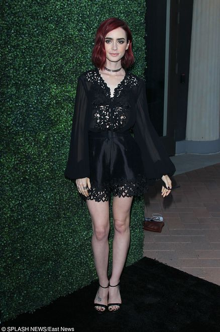 Lily Collins na imprezie Sony Pictures Television Social Soiree