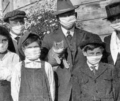 Rodzina w czasie epidemii grypy hiszpanki