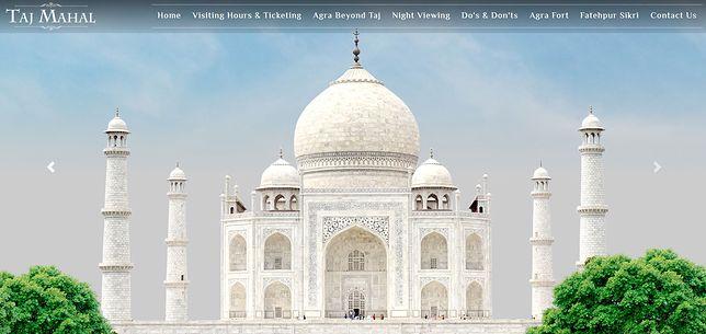 Na oficjalnej stronie Tadź Mahal jest możliwość obejrzenia historycznej budowli online