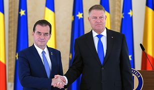 Prezydent Rumunii Klaus Iohannis (na zdjęciu po prawej) desygnował na premiera lidera opozycyjnej PNL Ludovica Orbana (na zdjęciu po lewej)