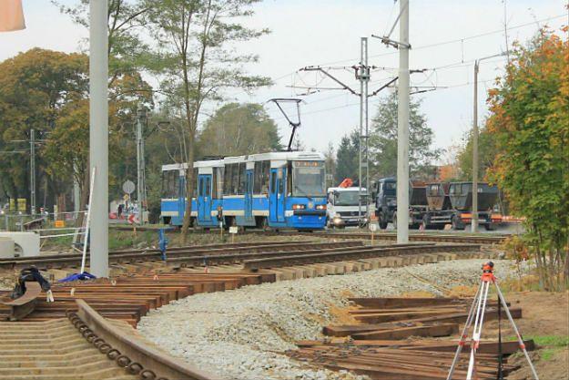 Trwają prace przy przejściu Świdnickim we Wrocławiu. Tramwaje pojadą objazdami