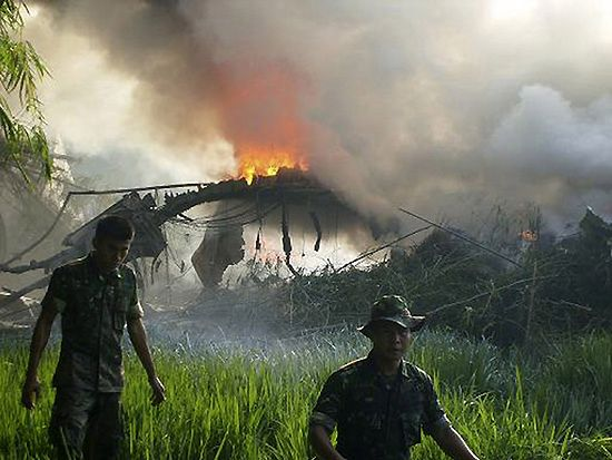 Co najmniej 97 osób zginęło w katastrofie samolotu