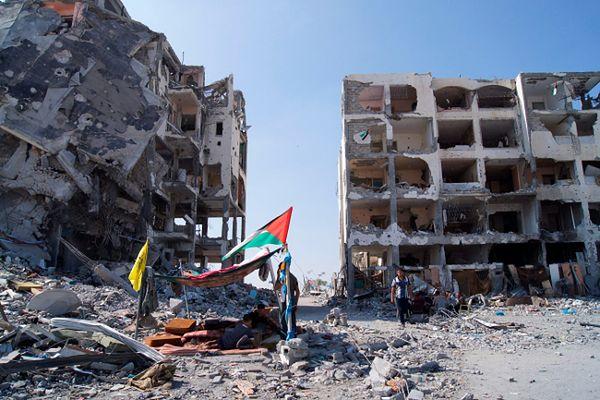 Zniszczenia po ostrzałach Strefy Gazy