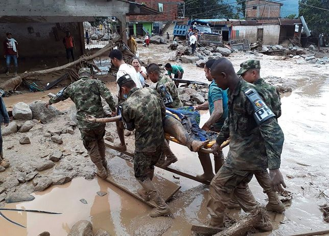 Już 92 ofiary wylania rzeki w Kolumbii