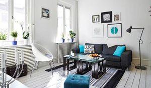 Biała podłoga - idealna do małego mieszkania