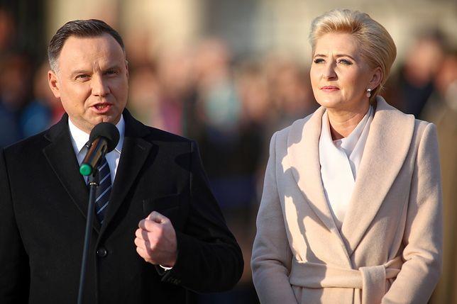 Agata Kornhauser-Duda podczas uroczystości na Wawelu