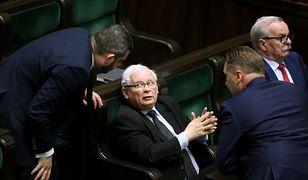 Sejm. Krzysztof Sobolewski i Jarosław Kaczyński