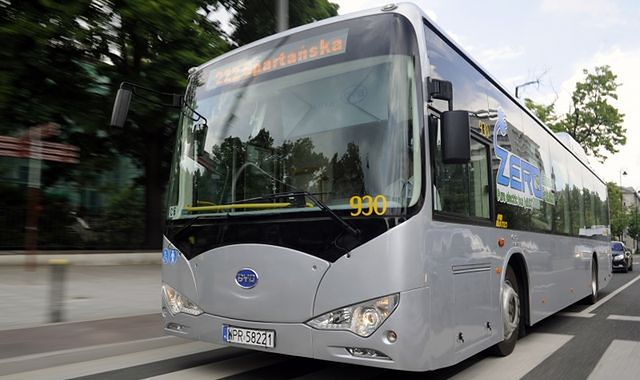 Elektryczny autobus z Chin na testach w Krakowie