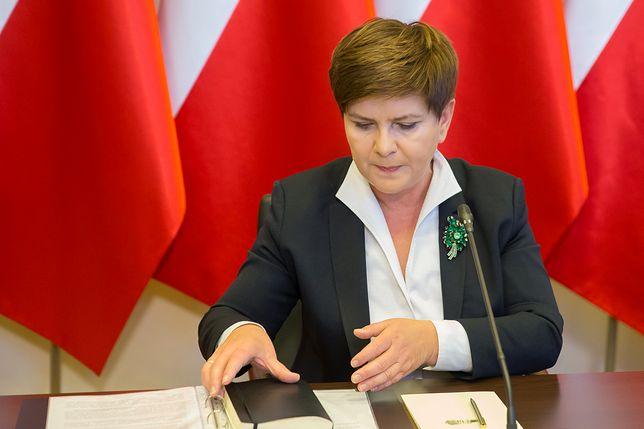 Konferencja wicepremier Beaty Szydło
