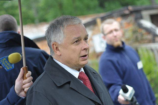 Lech Kaczyński mówił o morderstwie w Miłoszycach, za które odpowiadać miał Komenda