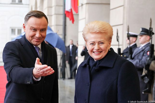 Andrzej Duda rozmawiał z Dalią Grybauskaitė o ochronie polskiego języka na Litwie