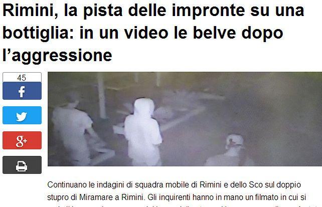 W nocy z piątku na sobotę we włoskich mediach opublikowano zdjęcia sprawców napadu