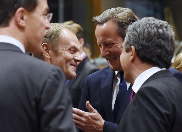 Donald Tusk i David Cameron
