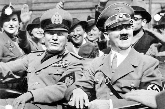 Benito Mussolini i Adolf Hitler w Monachium w czerwcu 1940 r.