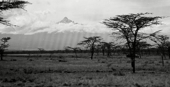 Widok na Mount Kenya, 1936 r.