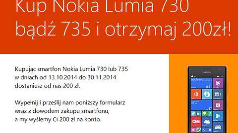 Microsoft rozdaje 200 zł za zakup wybranych telefonów Nokia Lumia