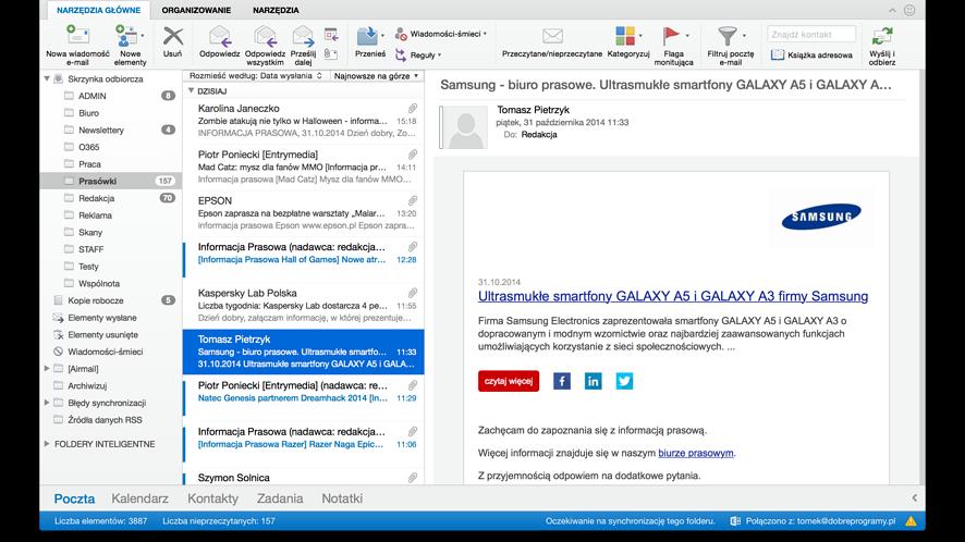 Nowy Outlook dla Maków dostępny do pobrania jako część Office 365