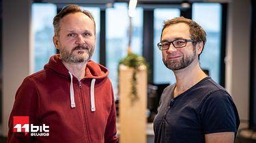 11 bit studios z nowym sternikiem. Przemysław Marszał prezesem zarządu - Od lewej: Grzegorz Miechowski i Przemysław Marszał.