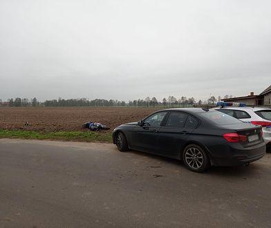 Pościg zakończył się w polu.