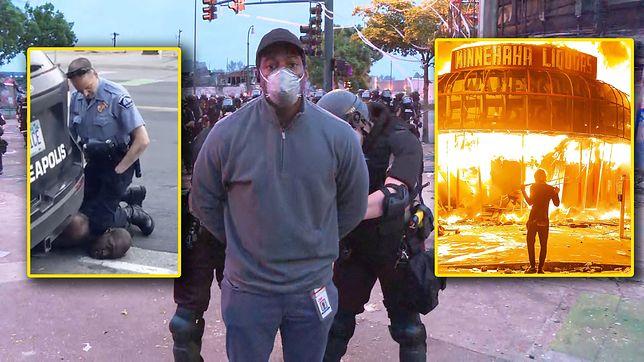 Brutalna interwencja policji w Minneapolis doprowadziła do zamieszek. Dziennikarz CNN został aresztowany