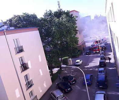 Pożar przy ulicy Staszica