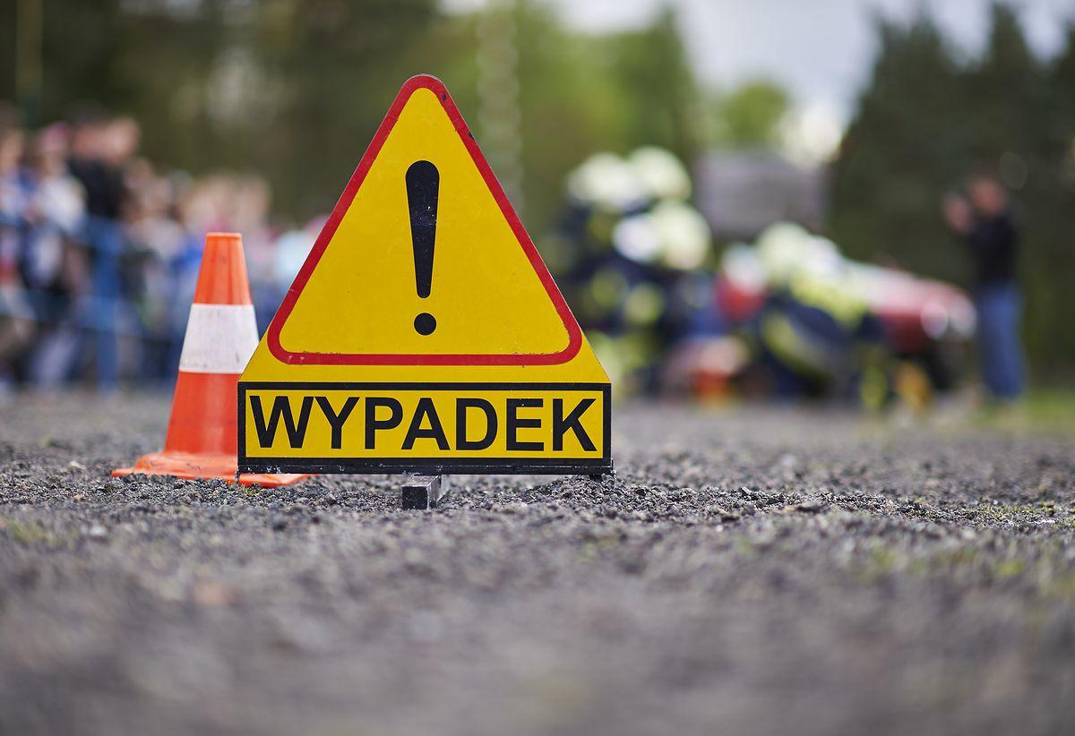 wypadek trójkąt miejsce wypadku