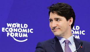 W Davos trudno było się skupić na słowach Trudeau. Wszystko przez skarpetki