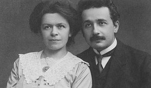 Mileva Marić z mężem Albertem Einsteinem