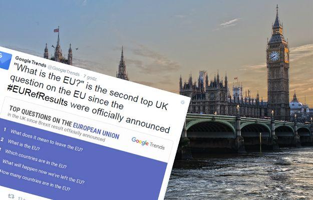 Co to jest Unia Europejska? - To wg Google najczęściej zadawane dziś pytanie przez Brytyjczyków
