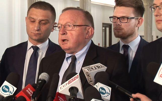 Red. Stanisław Michalkiewicz odczytał fragmenty notatki pełnomocnika MSZ
