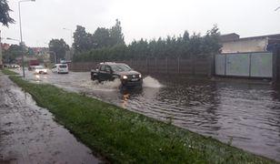 Deszcz w Słupsku i okolicach pada bez przerwy od kilku godzin
