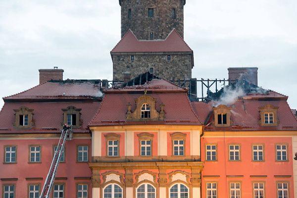 Pożar zamku Książ