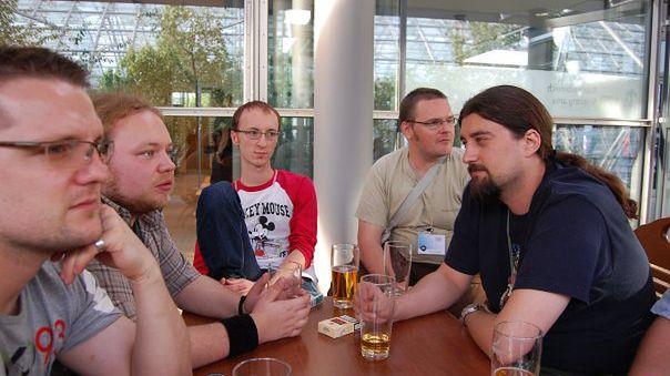 Pierwszy skład Polygamii - Aleksander Lemlich, Maciej Kowalik, Jakub Tepper, Maciej Bochuzynsk [przyjaciel serwisu], Piotr Gnyp