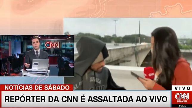 Brazylijska dziennikarka zaatakowana na wizji. Napastnik miał nóż