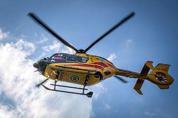 Ranne dziecko przetransportował do szpitala śmigłowiec LPR