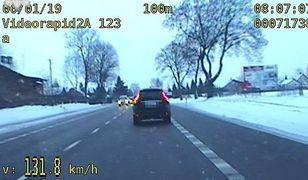 Białorusin wyprzedzał radiowóz. Przekroczył prędkość o 81 km/h