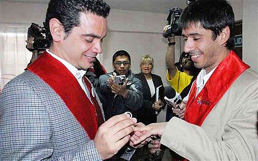 Pierwsze homoseksualne małżeństwo w Ameryce Łacińskiej