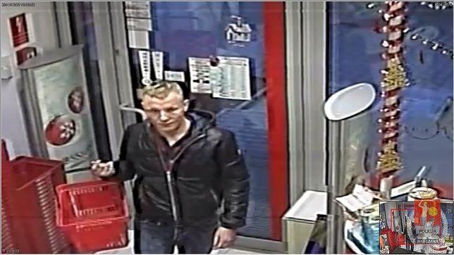 Okradł sklep i poturbował staruszkę [zdjęcie z monitoringu]
