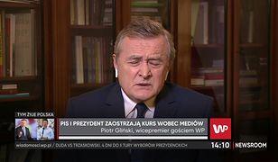 """Wybory 2020. Piotr Gliński broni wypowiedzi prezydenta. """"To jest pewien skrót myślowy"""""""