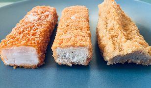 Składy paluszków rybnych znacznie się od siebie różnią. Niektóre w ogóle nie zawierają ryby.