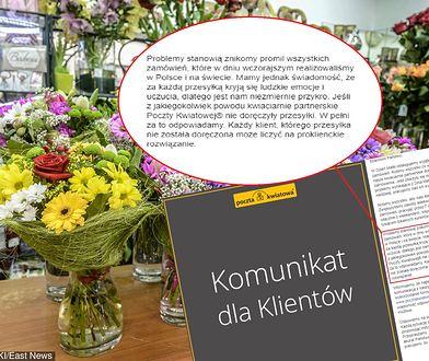 Klienci zgłaszają problemy z przesyłkami na Dzień Matki, Poczta Kwiatowa odpowiada