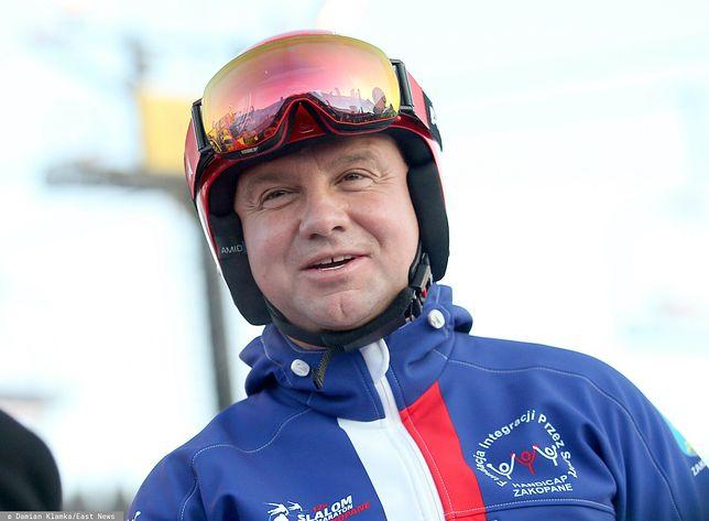 Prezydent Andrzej Duda w tym roku nie będzie szusował na  nartach
