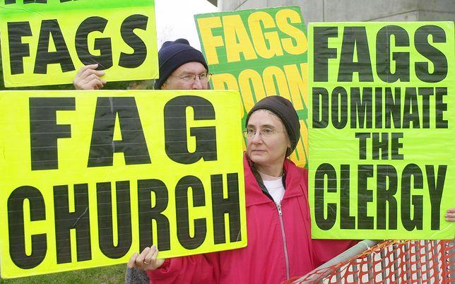 Demonstracja członków Kościoła Baptystycznego Westboro