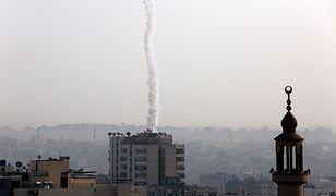 Rakieta wystrzelona ze Strefy Gazy w kierunku Izraela (13.11).