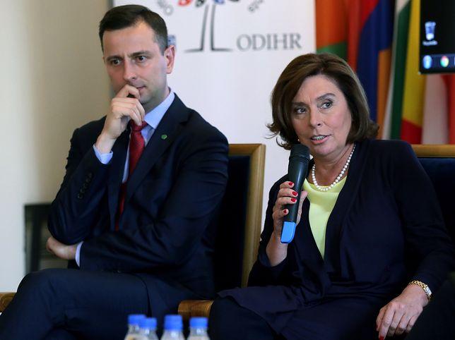 Wybory prezydenckie. Władysław Kosiniak-Kamysz i Małgorzata Kidawa-Błońska.
