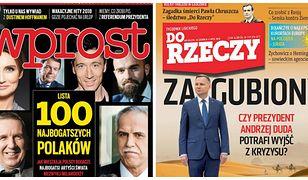 Zagubiony Duda i lista 100 najbogatszych Polaków. Okładki tygodników