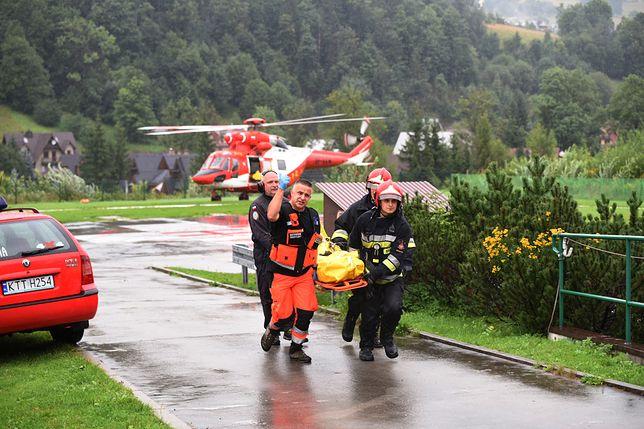 Tatry. Akcja ratownicza TOPR po porażeniu turystów piorunem na Giewoncie