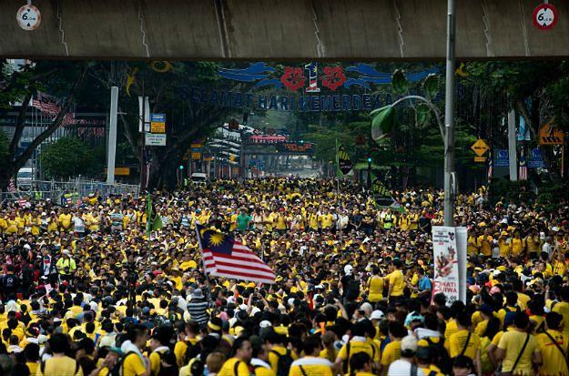 Masowe protesty w stolicy Malezji - Kuala Lumpur