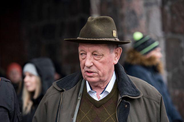 Jan Szyszko podczas wizyty w Puszczy Białowieskiej